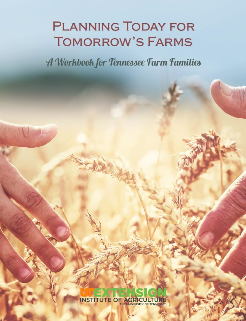 Planning Today for Tomorrow's Farms Workbook Cover